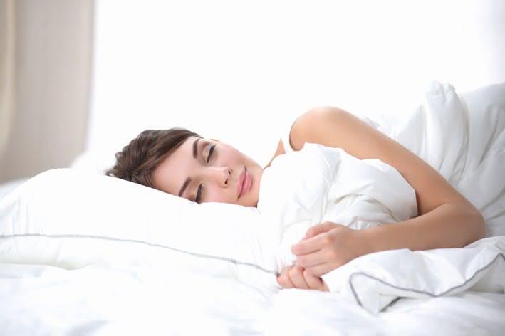 Im Bett liegen