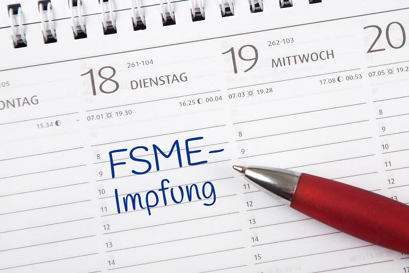 Eintrag im Kalender: FSME-Impfung