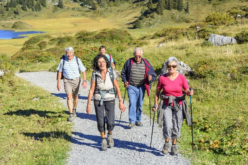 Nordic Walking Senioren Gruppe