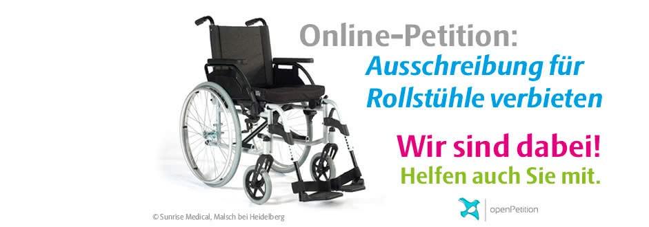 Petition Rollstuhl