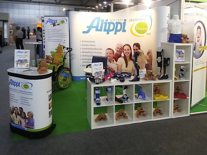 Messestand in Leipzig