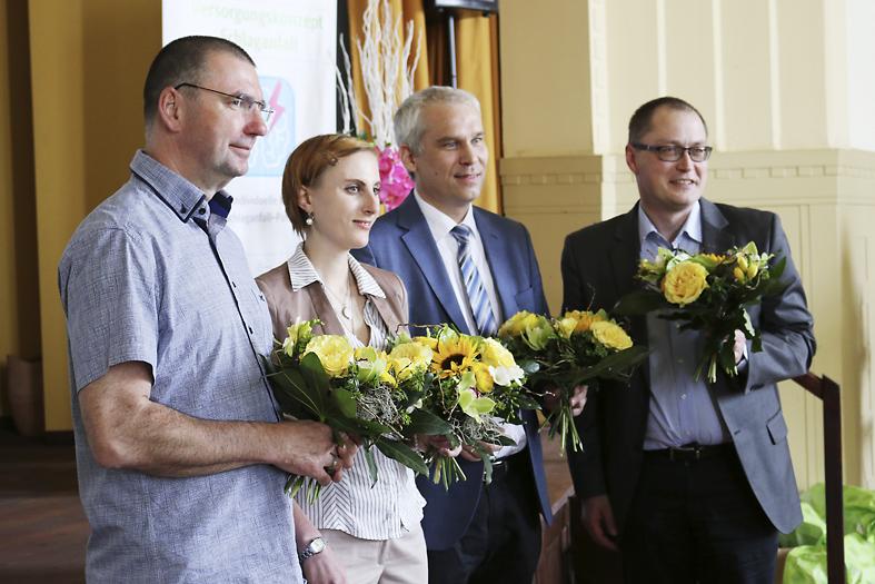 Gruppenbild der Referenten vom Schlaganfall-Forum in Chemnitz