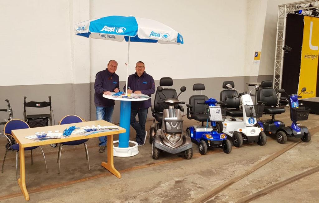 Mitarbeiter beim 14. Leipziger Seniorentag der LVB