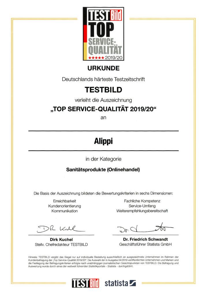 Auszeichnung TestBILD TOP Service-Qualität