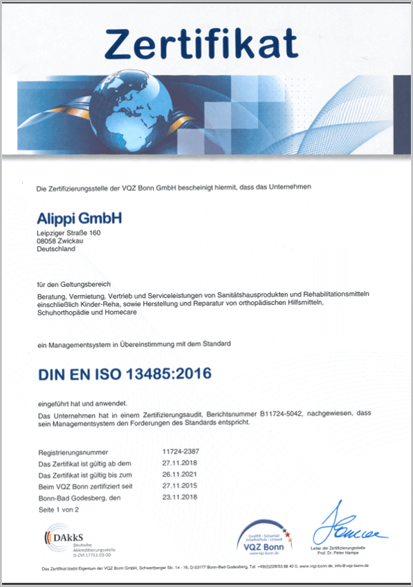 Alippi-Zertifikat-VQZ-Bonn