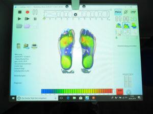 Fußdruckmessung am PC