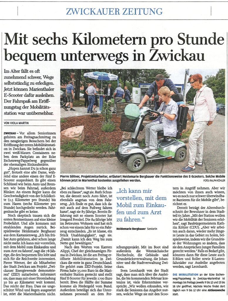 Freie Presse Zwickau Alippi-Mobilstation